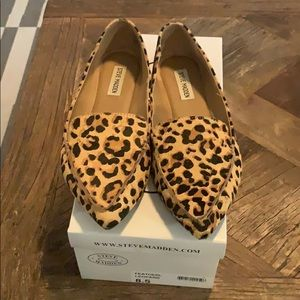 Steve Madden Feather Loafer Leopard Size 8.5